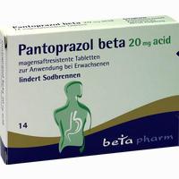 Abbildung von Pantoprazol Beta 20 Mg Acid Magensaftresistente Tabletten  14 Stück