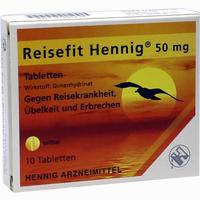 Abbildung von Reisefit Hennig Tabletten 10 Stück