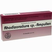 Abbildung von Rhodizonsäure Cp. Ampullen Injektionslösung 10 x 2 ml