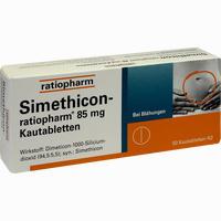 Abbildung von Simethicon- Ratiopharm 85mg Kautabletten  50 Stück