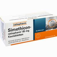 Abbildung von Simethicon- Ratiopharm 85mg Kautabletten  100 Stück