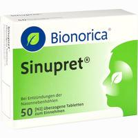 Abbildung von Sinupret Bionorica überzogene Tabletten  50 Stück