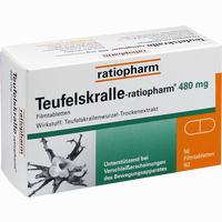 Abbildung von Teufelskralle- Ratiopharm Filmtabletten 50 Stück