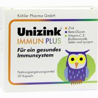 Abbildung von Unizink Immun Plus Kapseln 1 x 30 Stück