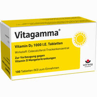 Abbildung von Vitagamma Vitamin D3 1000 I.e.tabletten  100 Stück