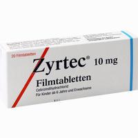 Abbildung von Zyrtec Filmtabletten Ucb pharma gmbh 20 Stück